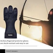 1 шт перчатки для стрельбы из лука 3 пальца противоскользящие