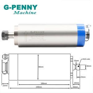 Image 2 - Kit de broche G PENNY/ER20 refroidie à eau, 4 roulements et onduleur VFD de 22 kw et 80mm, pompe à eau 75w, CNC