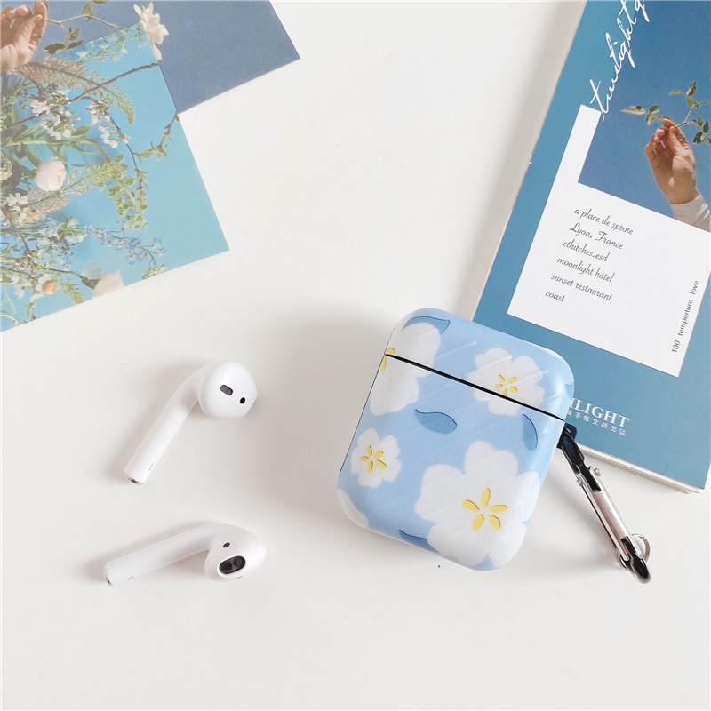 Милый чехол с цветочным узором для airpods pro наушников коробка