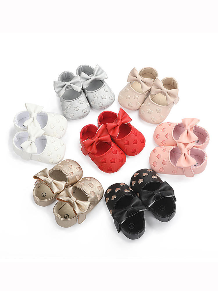 Baby Moccasins Shoes Footwear Bow-Fringe Soft-Soled Non-Slip Baby-Boy-Girl PU