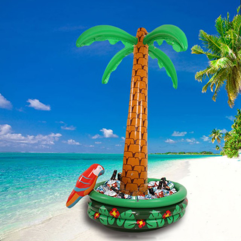 Inflatable Palm Tree Cooler  Beach Theme Party Decor Party Supplies Hawaii Series Ice Bucket Drink Pool Cube Beer Whiskey Freeze