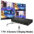 Acasis HDMI 4x1 Quad MultiView HDMI коммутатор сплиттер 4 в 1 выход видео конвертер 1080P PIP изображение в картинке бесшовный переключатель