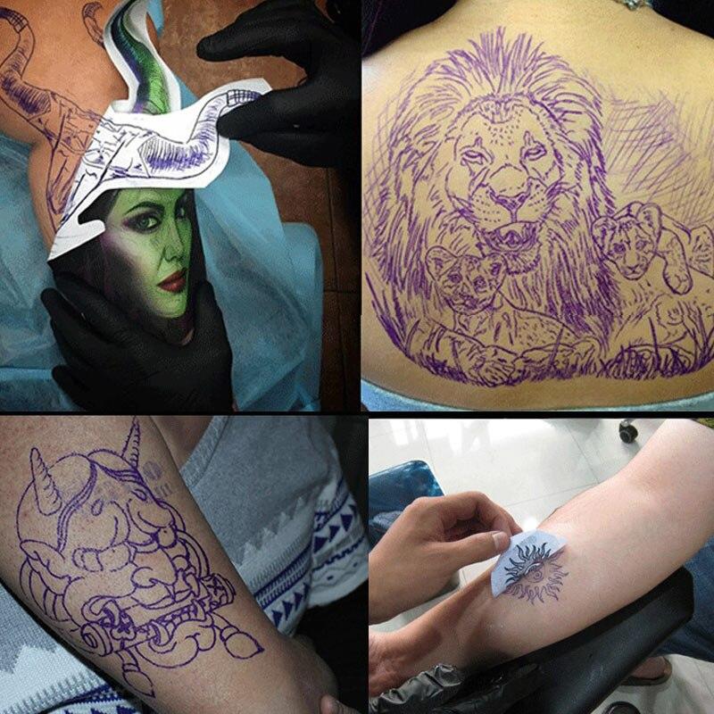 Hot 50Pcs Tattoo Masters Stencil Transfer Paper Hectograph Tattoo Supplies CNT 66