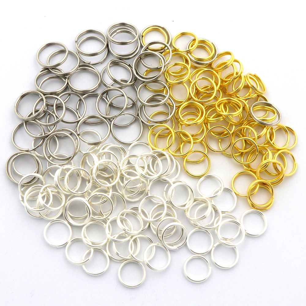 400pcs 8 Sizes Mixed Color Metal Double Layer Split Jump Rings For Jewelry Making Findings Bracelet Diy Accessories Wholesale