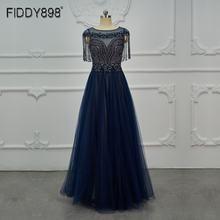 Темно синие платья для выпускного вечера искусственное платье