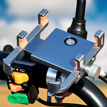 Bike-Phone-Holder Mobile-Bracket Bicycle Aluminum 360 for 60-100mm-Width Rotatable