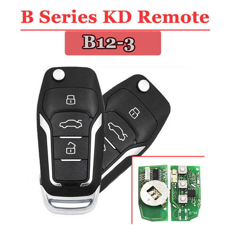 Free Shipping(1piece)KD900 Remote Key  B12 3 Button B Series Remote Control For URG200/KD900/KD900+ Machine