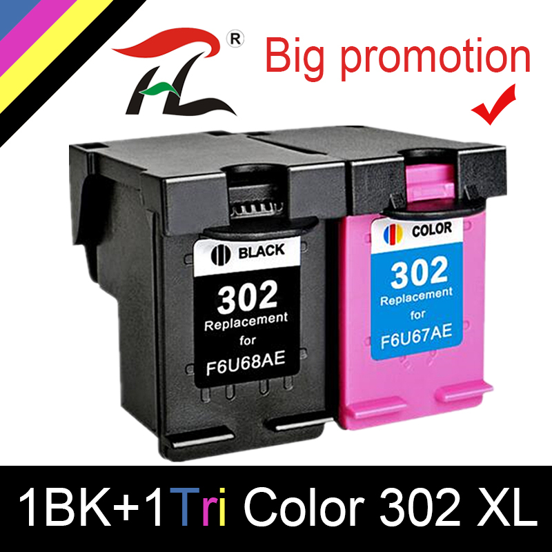 HTL 302XL Remanufactured Cartridge Replacement For HP 302 HP302 XL Ink Cartridge For Deskjet 1110 1111 1112 2130 2131 Printer