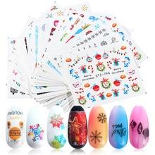 30 stks/set Kerst Nail Art Stickers Sneeuwvlokken Ster Winter Nagel Ontwerpen Water Decals Decoraties Manicure Sliders TRSTZ779 808
