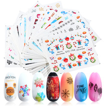 30pcs/Set Christmas Nail Art Stickers Snowflakes Star Winter Nail Designs Water Decals Decorations Manicure Sliders TRSTZ779 808