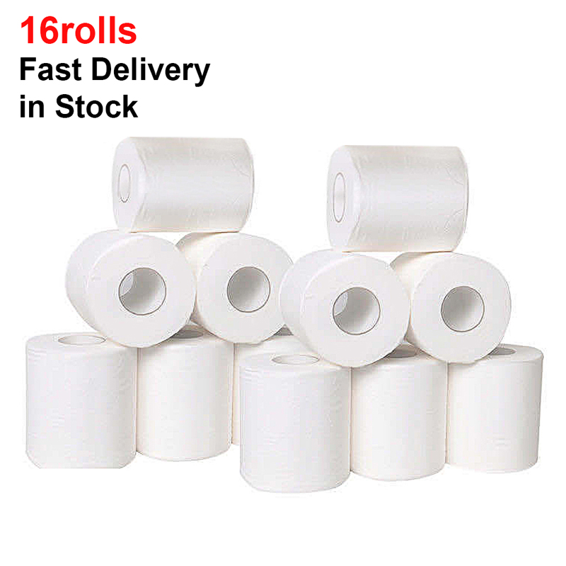 16 Rolls Toilet Paper Bulk Silky & Smooth Soft 3-Ply Toilet Paper Home Kitchen Toilet Tissue Highly Absorbent Toilet Paper Bulk