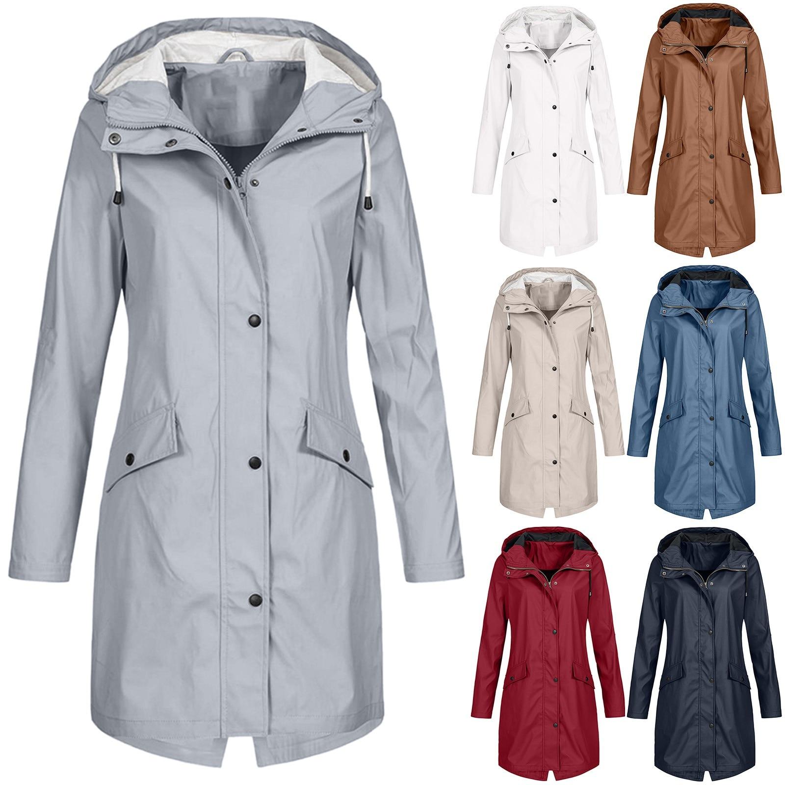 Coat Jacket Hiking-Clothes Waterproof Women Lightweight Outdoor Transition