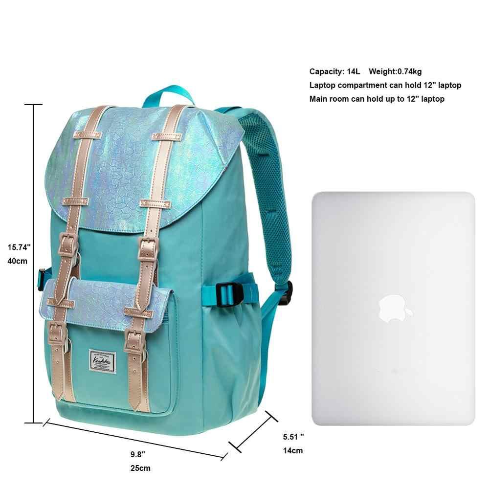 """Kaukko Tas Sekolah Wanita Pria Siswa 15 Inch Ransel untuk 12 """"Notebook Kasual Daypacks, 40*25*14 Cm, 14 L Mini"""