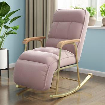 Prosty nowoczesny rozkładane krzesło balkon fotel wypoczynkowy leniwy fotel wypoczynkowy fotel wypoczynkowy fotel bujany na fotel lub łóżko meble tanie i dobre opinie CN (pochodzenie) Nowoczesne Meble do salonu YY-2 Szezlong Meble do domu Metal Rocking chair Metal Adult Simple modern