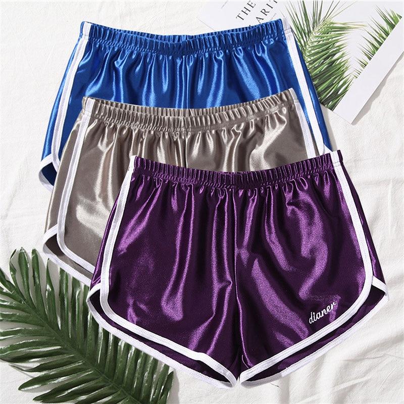 2021 fashion Women Elastic Waist Short Pant Lady Summer Sleep Pants Shorts Bright Color All-match Loose Shorts Femme Pajama Pant