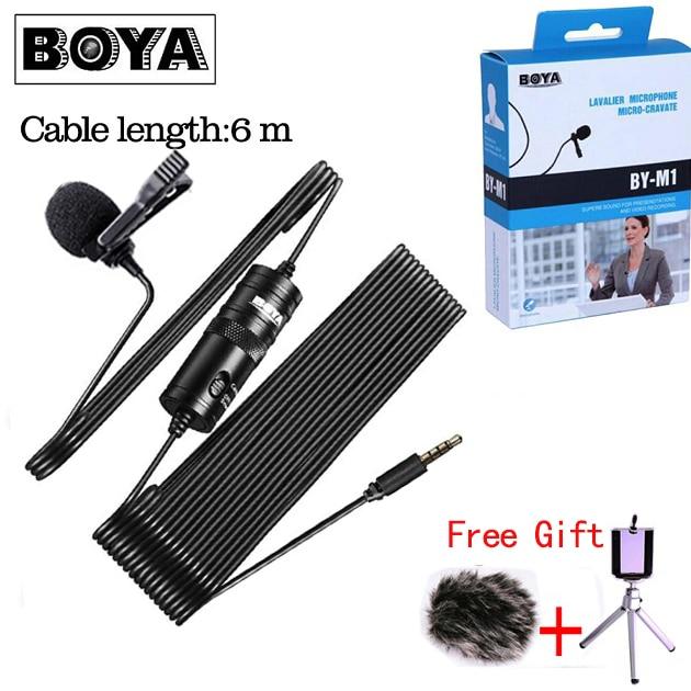 Boya By-m1 BY-M1DM lav microfone microfone condensador omnidirecional 3.5mm microfone para canon/iphone dslr gravadores de áudio