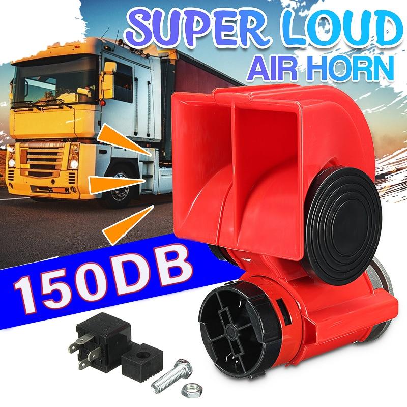 Permalink to 12V 150DB Auto Twin Dual Tone Compact Air Horns Kit Car Truck Lorry SUV RV Train Caravan Boat Twin Tone Super Loud