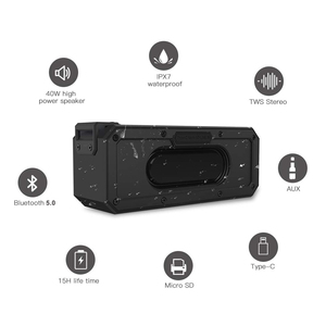 Image 3 - 40W 5.0 Bluetooth Speaker IP7X Waterdichte Draagbare Kolom Speaker Super Bass Subwoofer 2.1 Soundbar Sound Systeem Muziek Boombox