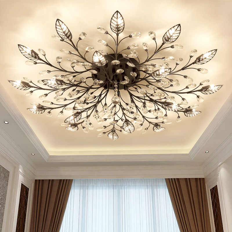 Retro Luxury LED Chandelier Light Lamp Living Room Lighting Fixture Bedroom dining room Surface Mount Flush Panel Bird G9