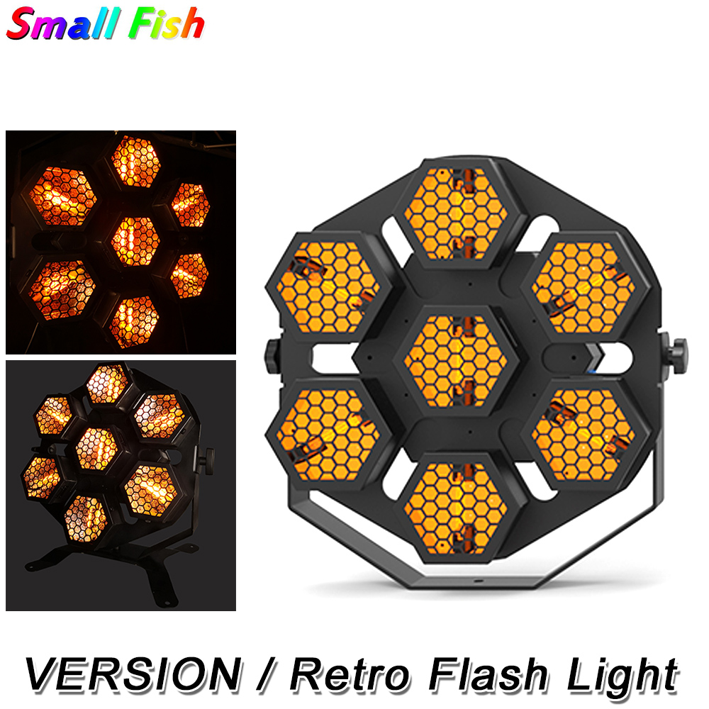 LED Retro Flash Light 7X30W LED Stage Light Dj Light Effect For Party Wedding Disco Events Lighting Shows Dj Equipments DMX 512