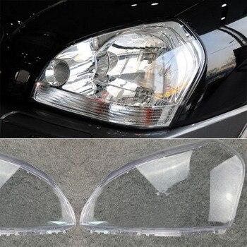 цена на MAYITR 1 Pair Car Headlight Headlamp Clear Lens Shell Cover Left & Right For HYUNDAI TUCSON 2005 2006 2007 2008 2009