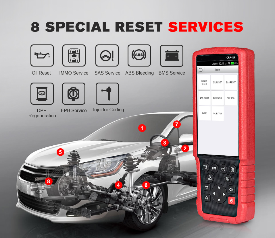 Image 3 - Launch X431 CRP429 OBD2 Scanner OBD Diagnostic Scan Tool Auto Code Reader All System Diagnoses CRP 429 PK X431 CRP429C IMMO DPF-in Engine Analyzer from Automobiles & Motorcycles