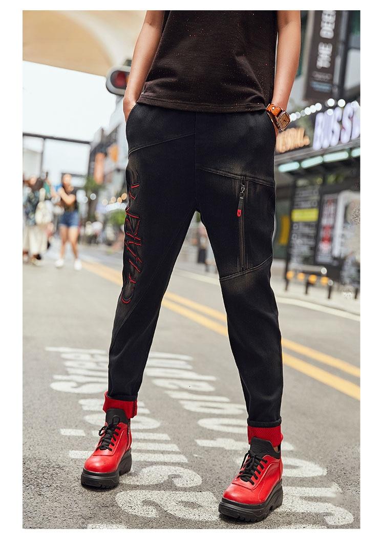 3d Natural IOW 最大ルル春のファッションヴィンテージ弾性ハーレムパンツ韓国レディースブラックスキニーリッピング 16