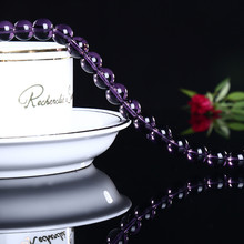 цена Natural purple water wafer beads semi-finished products bracelet necklace loose beads diy jewelry accessories production онлайн в 2017 году