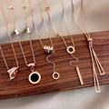 Цепочка из титановой стали с подвеской-бабочкой для женщин, корейский буквенно-цифровой кулон, ожерелье, темпераментная бижутерия, 2020
