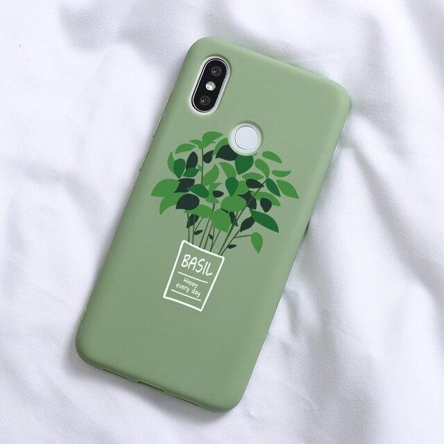 Cactus Avocado Soft TPU Cases For Xiaomi Redmi Mi A3 Lite Note 8 8T 4X 5A 5 Plus 6 6A 7 7A 8 8A K20 Pro A1 A2 5X 6X Case Fundas