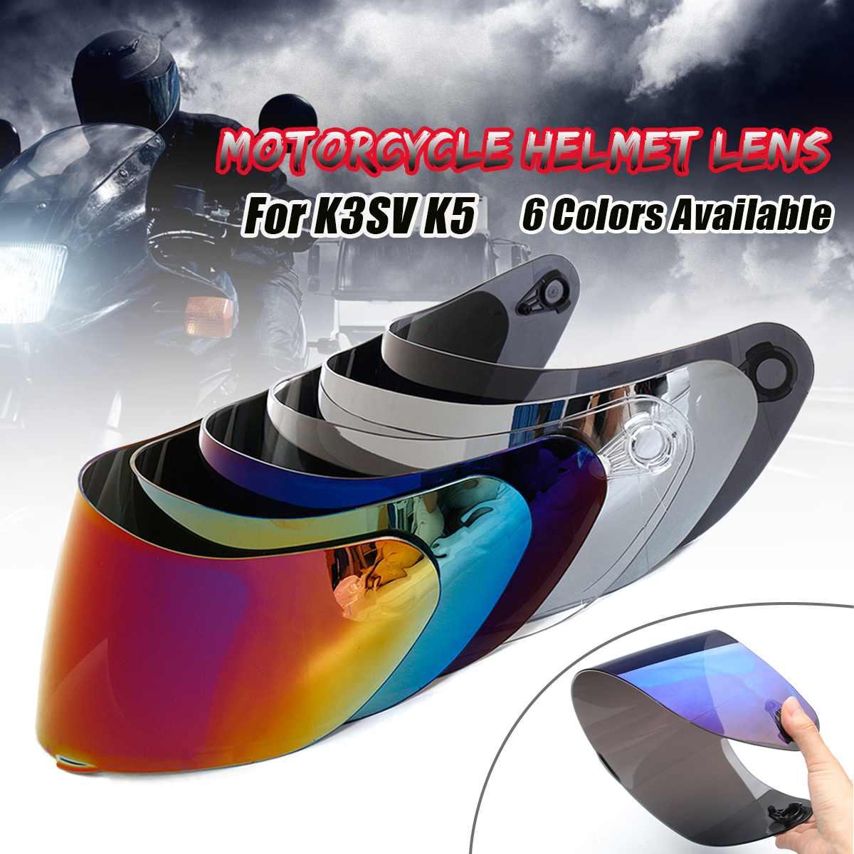 Casque visière pour AGV K5 K3 SV moto casque bouclier pièces d'origine lunettes pour agv k3 sv k5 moto casque lentille pleine face  