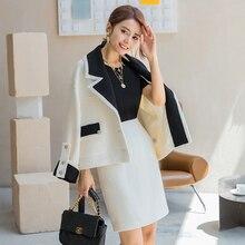Coats YIGELILA Tweeds Turn-Down-Collar Autumn Elegant Women 91110 Office Fashion Lady