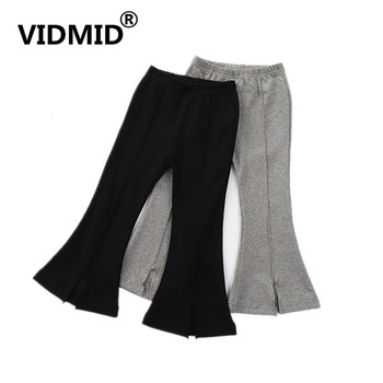 VIDMID Kids boot cut Pants Girls casual trousers Pants Children Pure Color Trousers Cotton clothing girls flare pants 4228 01 1