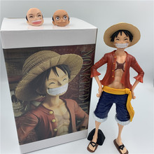 Luffy 3D2Y Grote Staande Ver. Pvc Action Figure Luffy Sanji Zoro Collectible Model 27Cm