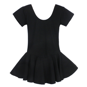 Image 5 - Women Ballet Leotard Adult Ballet Dancewear Short Sleeve Bodysuit Cotton Spandex Dance Clothes For Ballerina