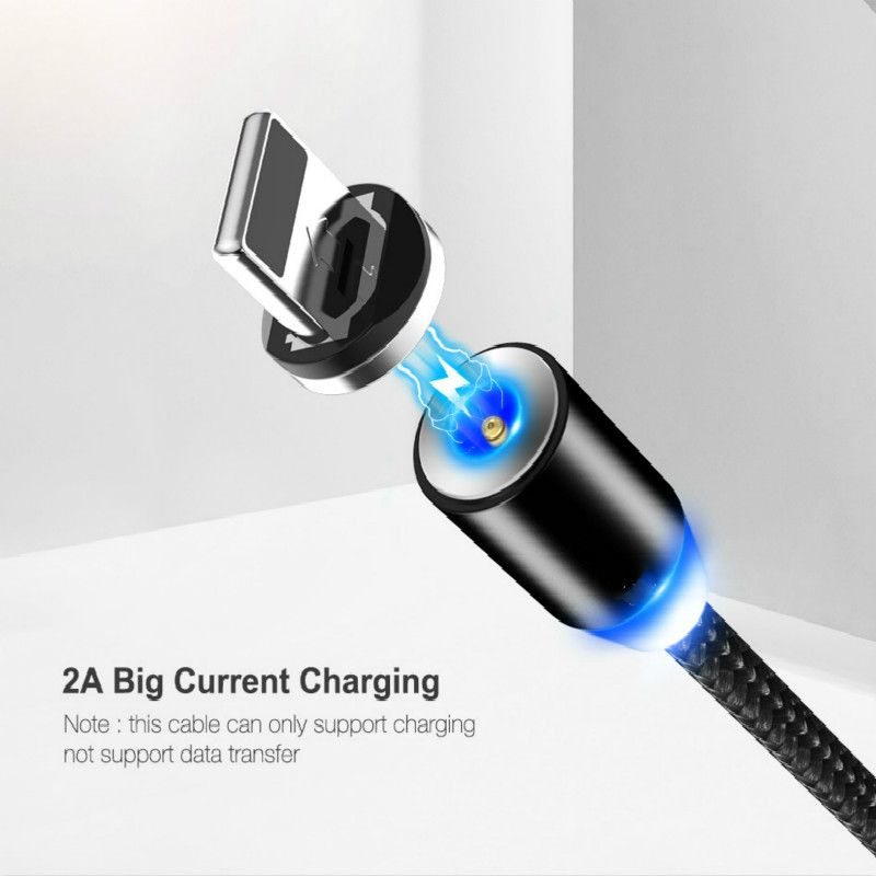 Magnetic Charging Cable Micro USB Cable For IPhone XR XS Max X Magnet Charger USB C-line LED Charging Cable