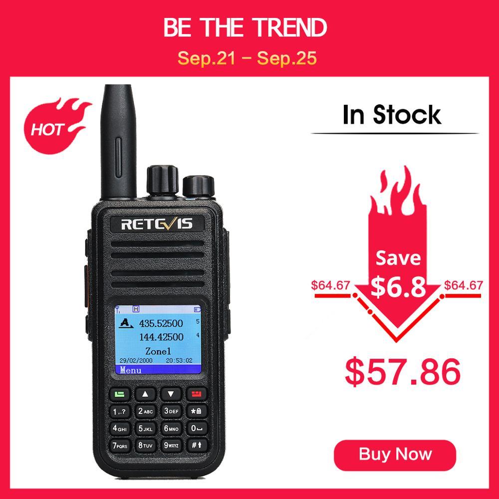 RETEVIS Walkie-Talkie Ham Radio Dual-Band Digital Mototrbo/tyt UHF DMR 5W GPS Amador