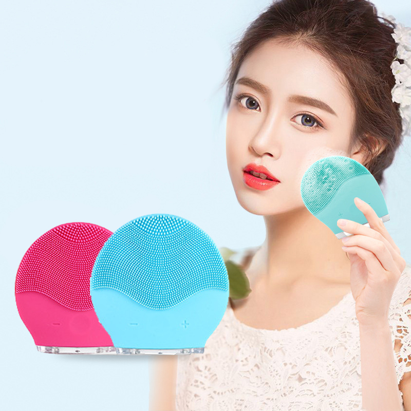 Foreoing Silicone Face Cleansing Brush Cepillo Facial Ultrasonic Limpieza Facial Pore Cleaner Sonic Skin Care Beauty Acne