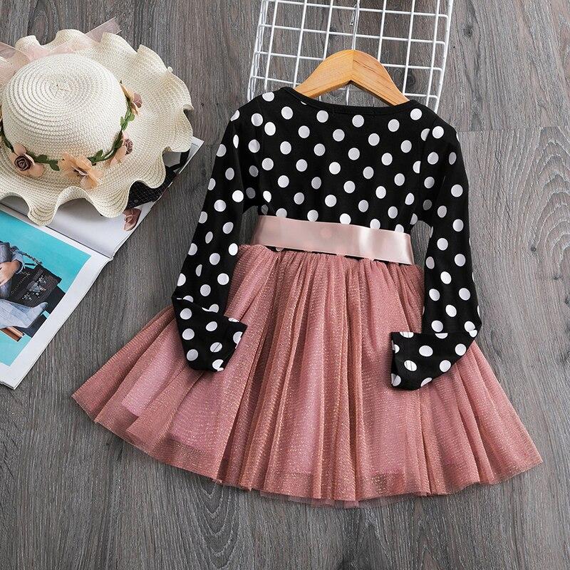 H26362081b3e64d1c9eaecbf0ec2cde0bS 2019 Autumn Winter Girl Dress Long Sleeve Polka Dot Girls Dresses Bow Princess Teenage Casual Dress Daily Kids Dresses For Girls