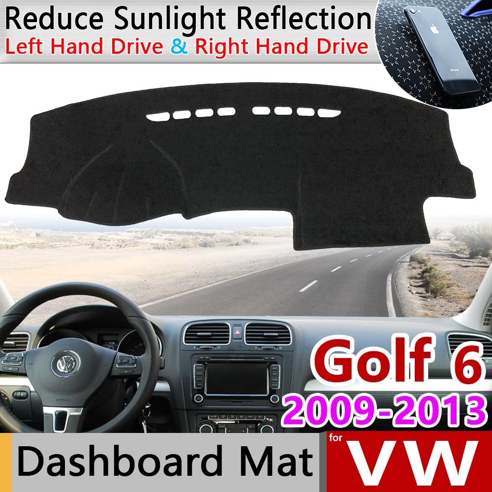 For Volkswagen VW Golf 6 MK6 2009~2013 5K Anti-Slip Mat Dashboard Cover Pad SunShade Dashmat Carpet Accessories 2010 2011 2012