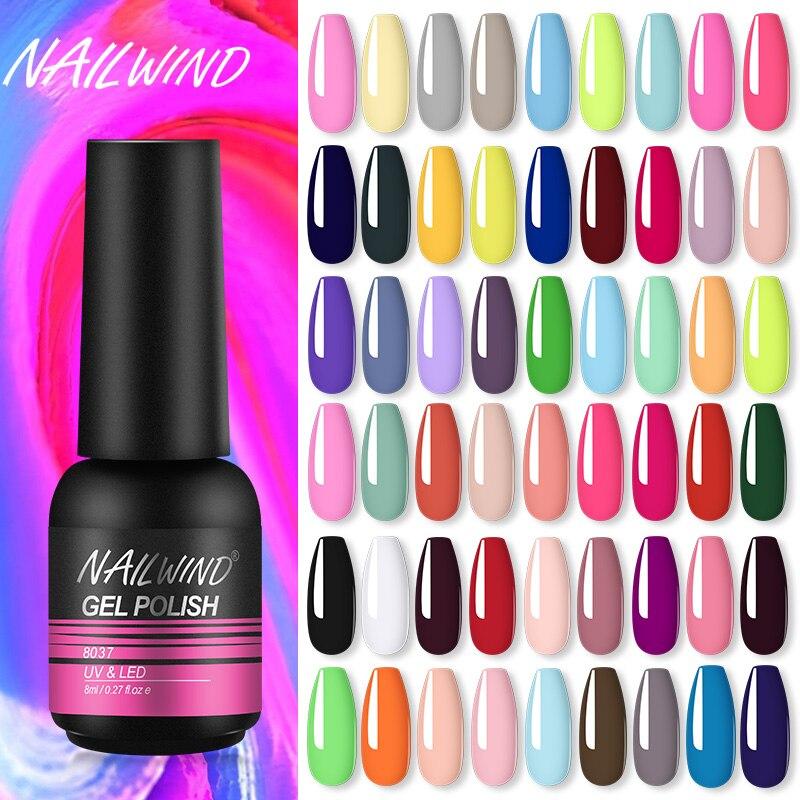 Гель Nailwind, набор для маникюра с УФ-светодиодной подсветкой, полимерный гель для дизайна ногтей, базовый топ, Праймер, пальто, розничная торго...