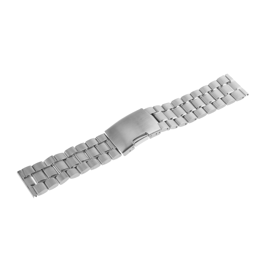 24mm Wrist Watch Strap Silver Colors Mechanical Bands Bracelet Series Jewelry For Men's Watch