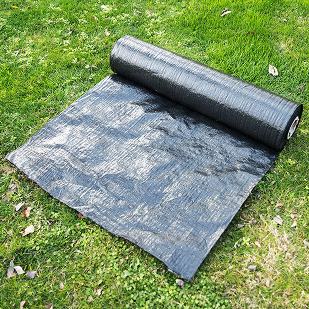 Garden Weeds Control Fabric Anti-Grass Ground Cover Membrane Landscape Mulching Shelter Black Farmland Supplies