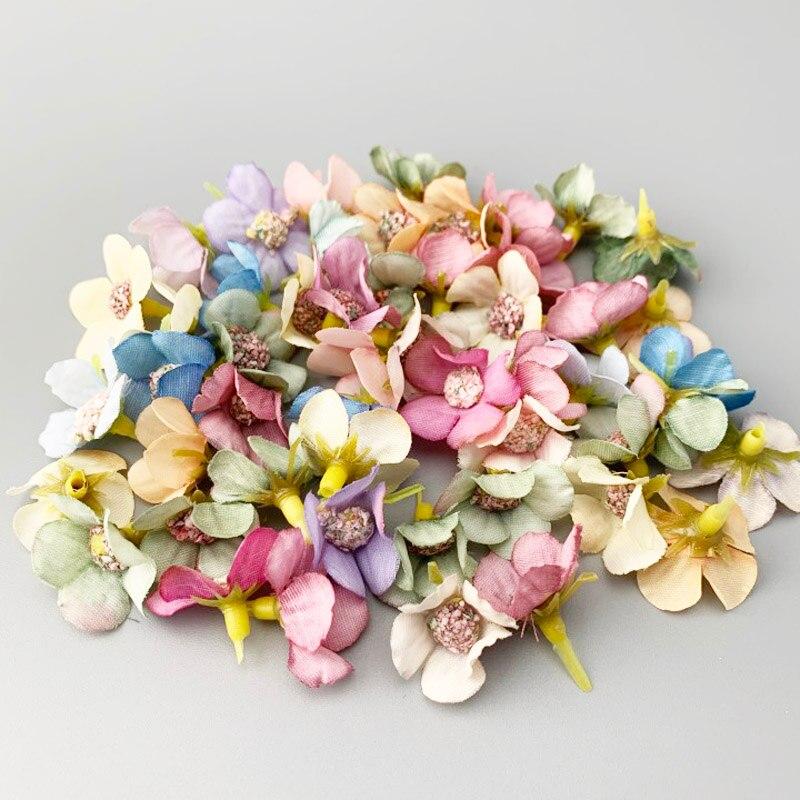 (50 шт./упак.) мини Дейзи искусственные цветочные бутоны для вечерние украшения дома DIY гирлянда Украшенные ресторан спальня цветочный цветок