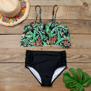 Sexy Ruffle High Waist Bikini Female Swimsuit 2020 Plus Size Swimsuits Women Swimwear Push Up Bikinis Swimming for Bathing Suit 4