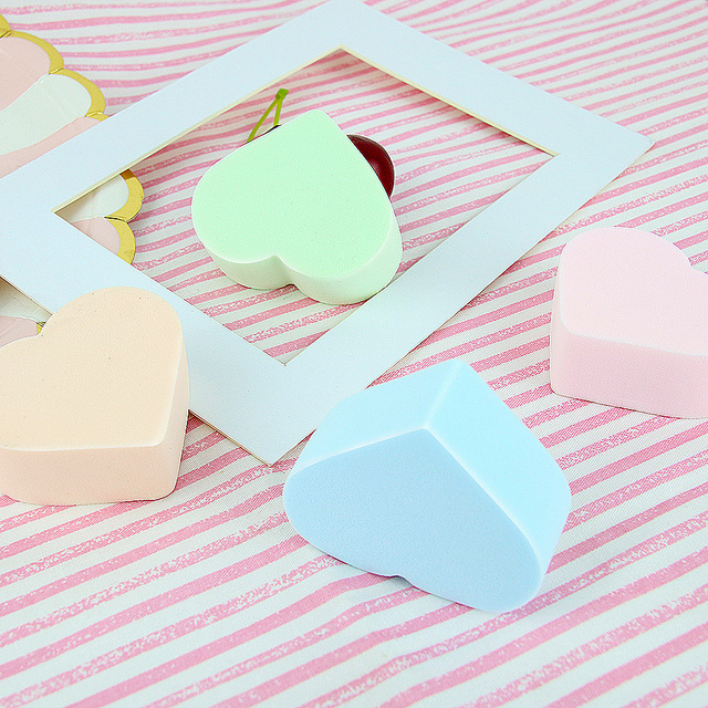 Angel Beauty Rhombus Water Drop Powder Puff pao shui da Wet And Dry Dual Purpose Miter Sponge Makeup fen pu he Beauty Wholesale 1