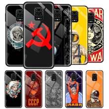 Union soviétique urss Grunge drapeau étui en verre pour Xiaomi Redmi Note 9S 8 Pro 9 7 8T 9T 9C 9A 8A K20 trempé couverture de téléphone souple Funda