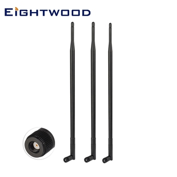 Eightwood 3pcs Routers Asus RT-AC66U RT-N66U RT-N16 AC1750 D-Link DIR 3x9dBi 2.4GHz 5GHz Dual Band RP-SMA WiFi Antenna Aerial image