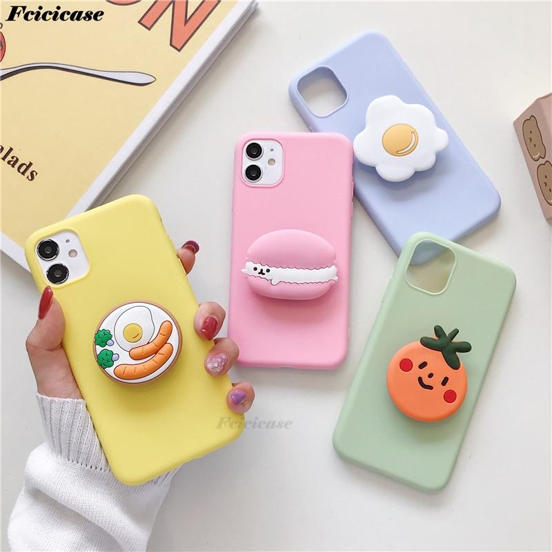 3D Cute Cartoon Cookies Case For Xiaomi Mi Note 10 Lite Holder Cover For Redmi Note 8 T Pro 9 S Mi 10