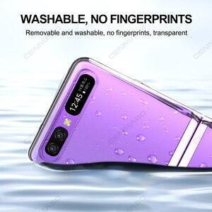 Image 2 - Grma Originele Huidvriendelijk Clear Crystal Hard Pc Back Cover Voor Samsung Galaxy Z Flip Case Sm F700F Voor Galaxy Z Flip Telefoon